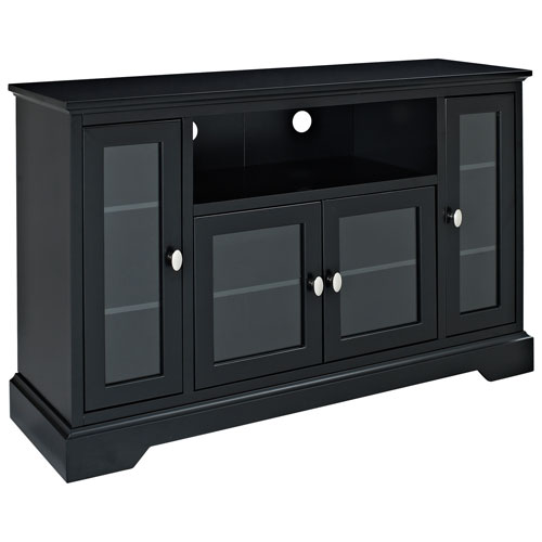 walker edison 55 tv stand black bc52c32bl tv stands best buy canada. Black Bedroom Furniture Sets. Home Design Ideas
