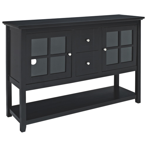 meuble pour t l viseur de 55 po de walker edison noir meubles pour t l viseur best buy canada. Black Bedroom Furniture Sets. Home Design Ideas