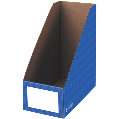 "Bankers Box 6"" Magazine File Holder - 3 Pack - Blue"