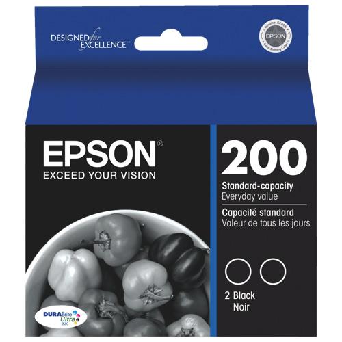 Cartouche d'encre noire DURABrite Ultra T200 d'Epson (T200120-D2) - Paquet de 2