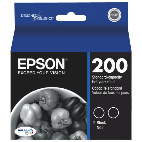 Epson DURABrite Ultra T200 Black Ink (T200120-D2) - 2 Pack