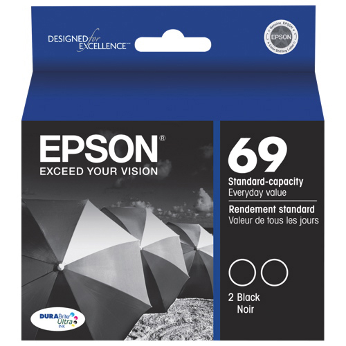 Epson DURABrite Ultra T069 Black Ink (T069120-D2) - 2 Pack