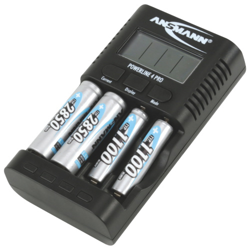 Ansmann Powerline 4 Pro Multifunction Charger for AA or AAA Batteries (1001-0005-US)