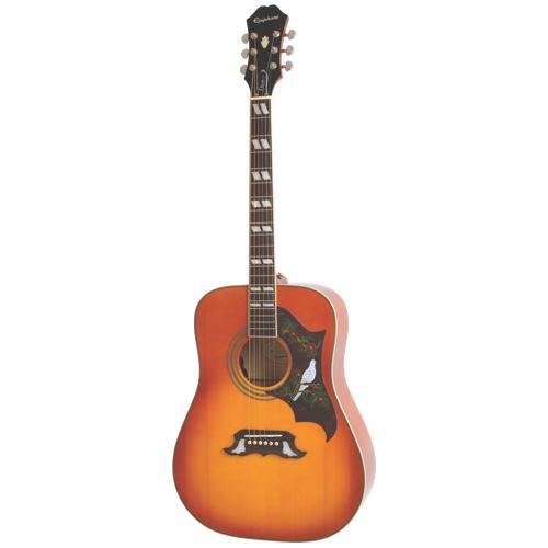 Guitare électro-acoustique Dove PRO d'Epiphone (EEDVVBNH1) - Vernis violon dégradé