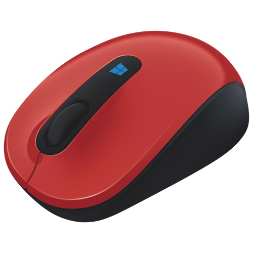 Microsoft Sculpt Wireless BlueTrack Mobile Mouse (43U-00024) - Red