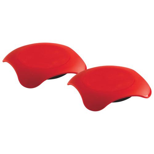 Assiette passant au four à micro-ondes Magma de Mastrad - Ensemble de 2 - Rouge