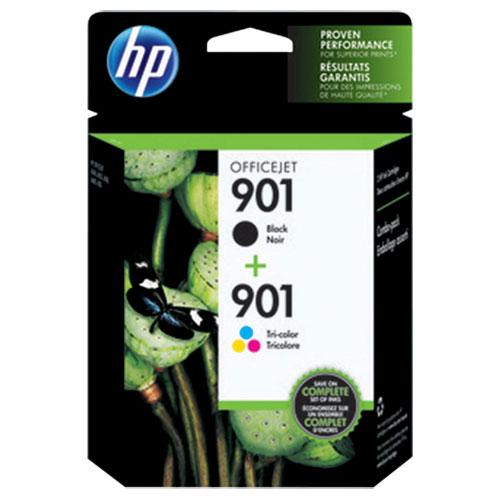 HP 901 Black/Tri-Colour Ink (CN069FC#140) - 2 Pack