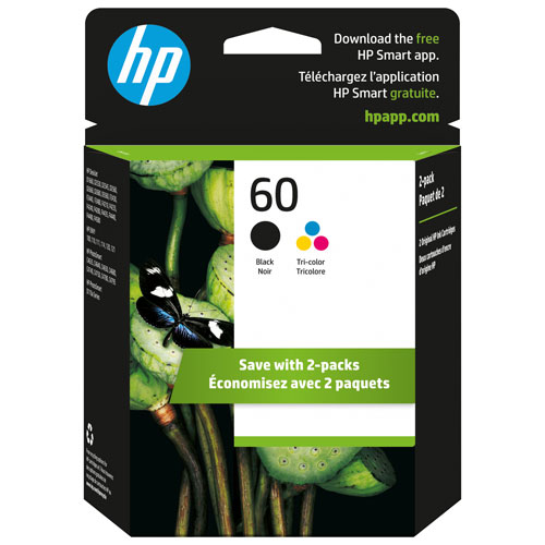 HP 60 Black/Tri-Colour Ink - 2 Pack