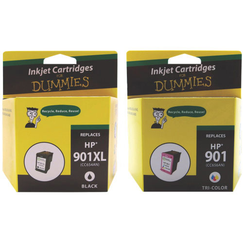 Ink For Dummies HP 901XL/901 CMYK Ink (DH-901XLBK/CL-VAL) - 2 Pack