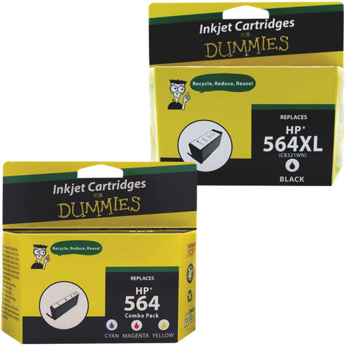 Ink For Dummies HP 564XL/564 CMYK Ink (DH-564XLBK/CL-VAL) - 4 Pack