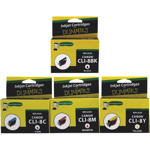 Inks for Dummies Canon CLI8 CMYK Ink - 4 Pack
