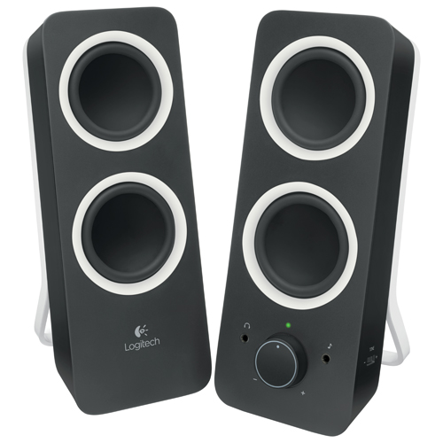 Logitech Z200 2.0 Channel Computer Speaker System (980-000800) - Black