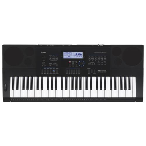 Casio 61-Key High-Grade Keyboard - Black (CTK-6200K3)