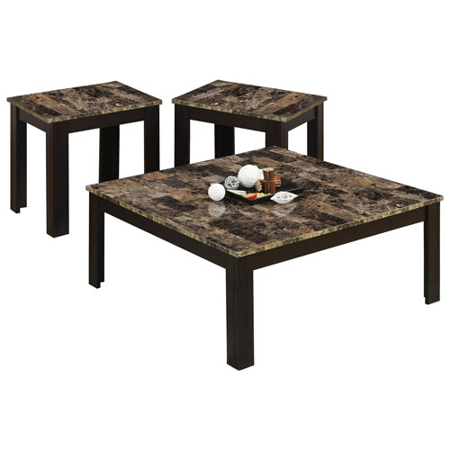 Faux Marble Coffee Table Canada: Cappuccino Marble : Nesting Tables