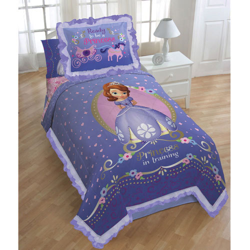 ensemble couette et couvre oreiller princess sofia de disney lit simple 1227twcs900. Black Bedroom Furniture Sets. Home Design Ideas