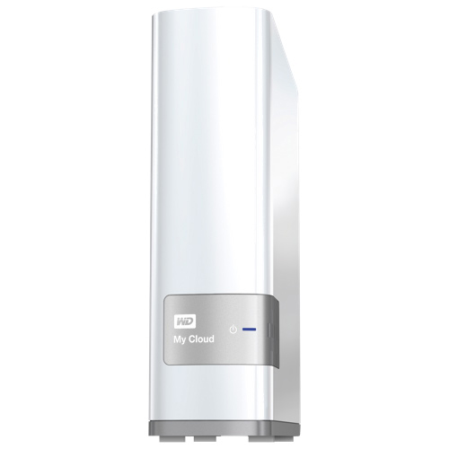 Dispositif de stockage infonuagique personnel 1 baie 4 To My Cloud WD (WDBCTL0040HWT-NESN) - Blanc