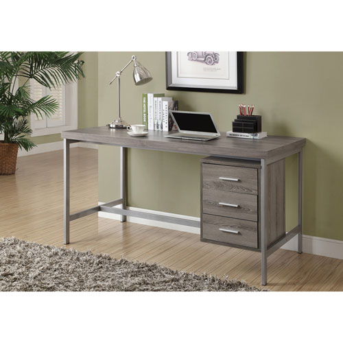 Drawer Writing Desk Dark Taupe Online Only
