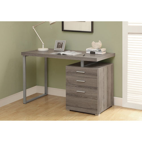 bureau contemporain avec classeur taupe fonc bureaux et postes de travail best buy canada. Black Bedroom Furniture Sets. Home Design Ideas