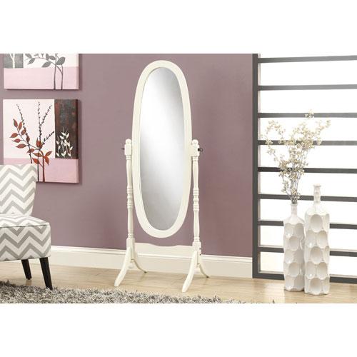 Miroir ovale ancien de Monarch (i3102) - Blanc