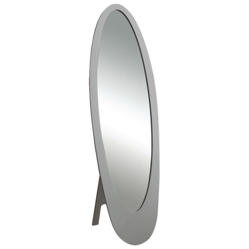 Monarch Contemporary Oval Cheval Mirror (i3359) - Grey