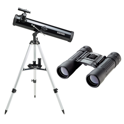 Safari 76 x 525mm Reflector Telescope & Binocular Kit ...