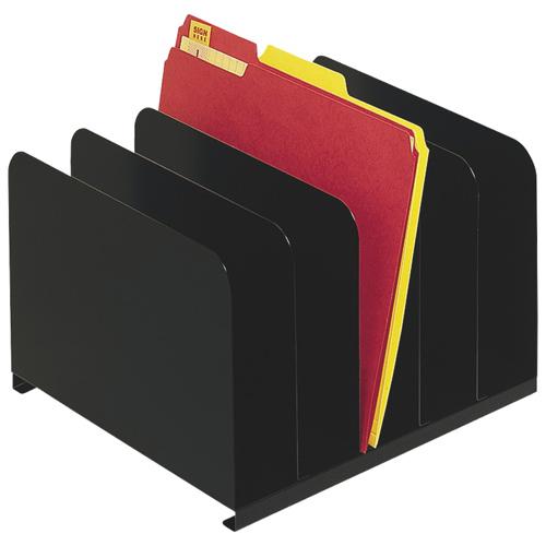 Classeur vertical 6 compartiments SteelMaster de MMF (MMF2646BLA) - Noir