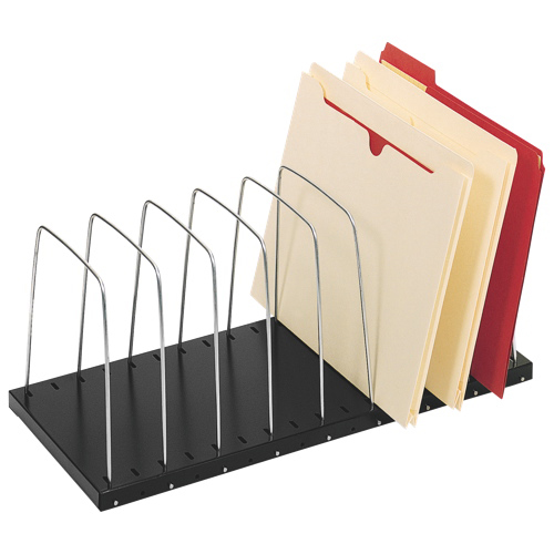 MMF Steelmaster 8 Compartment Easy File Rack (MMF2649012BK) - Black/Silver