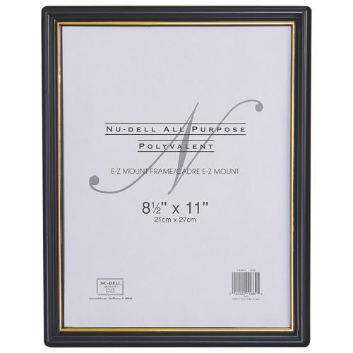 "Nu-Dell 8.5"" x 11"" EZ Mount Wall Frame (NUD11880) - Black/Gold"