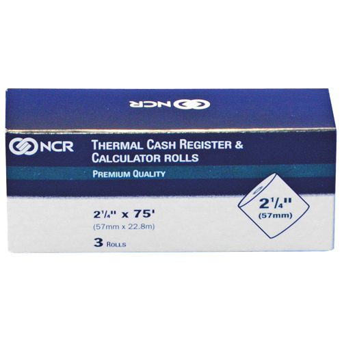 NCR Thermal Paper Calculator-Cash Register Roll (NCR9078-0390) - 3 Pack