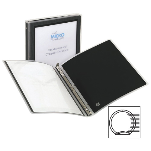 """Avery 1/2"""" Flexi-View Round Ring Binder (AVE15767) - Black"""