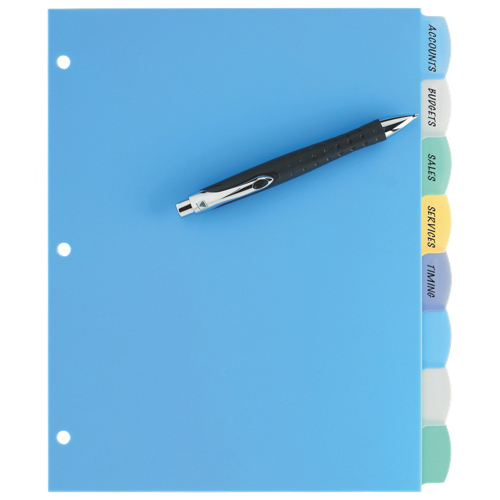 Avery Durable Translucent Write-On Divider (AVE16171) - Assorted Colors