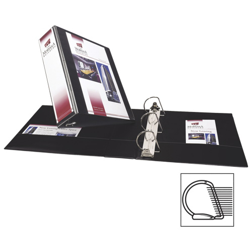 "Avery 3"" Durable Slant D-Ring View Binder (AVE17041) - Black"