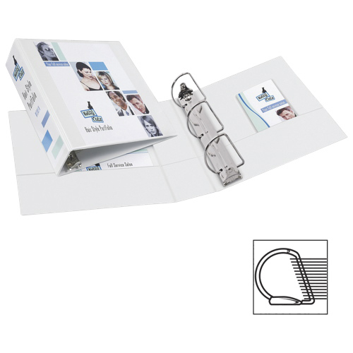 """Avery 3"""" Durable Slant D-Ring View Binder (AVE17042) - White"""