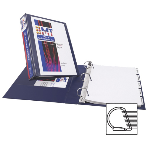 """Avery 3"""" Durable Slant D-Ring View Binder (AVE17044) - Navy Blue"""