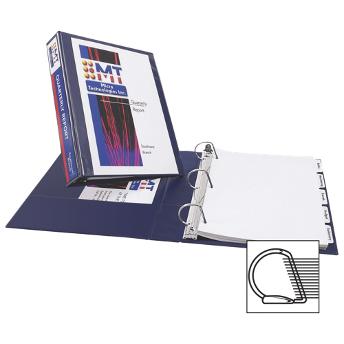 """Avery Durable 1 1/2"""" Reference Slant D-Ring View Binder (AVE17024) - Navy Blue"""