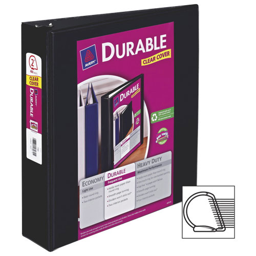 "Avery 2"" Durable Slant D-Ring View Binder (AVE17031) - Black"