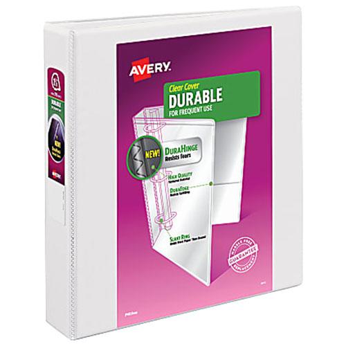 Reliure de présentation durable à anneaux de 2 po d'Avery (AVE17032) - Blanc