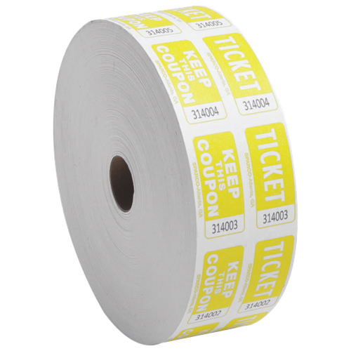 Sparco 2000 Count Double Roll Ticket (SPR99270) - Yellow
