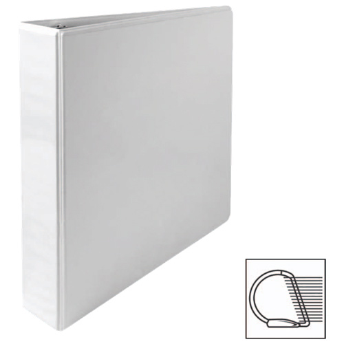 "Sparco 1.5"" Slanted D-Ring Binder (SPR62465) - White"