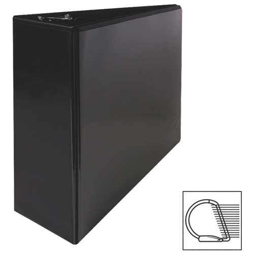 "Sparco 4"" Slanted D-Ring Binder (SPR62472) - Black"