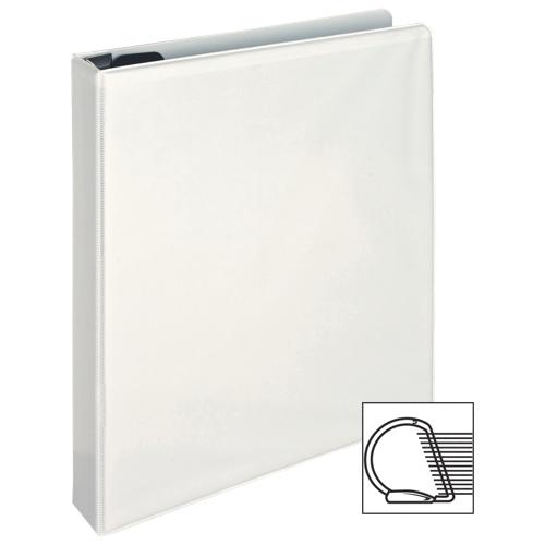 Cartable à reliure à anneaux en D verrouillable de 1 po de Sparco (SPR26955) - Blanc