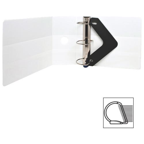 Cartable à anneaux en D verrouillable de 5 po de Sparco (SPR26965) - Blanc
