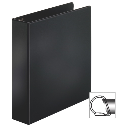 "Sparco 1"" Slant-D Locking Ring Binder with Sheet Lifter (SPR26967) - Black"