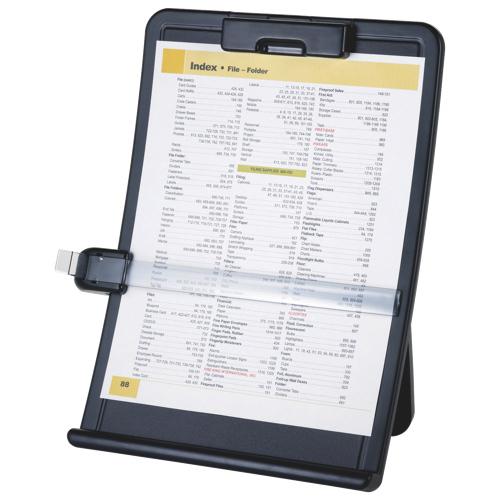 Porte-document de format lettre et grand format de Sparco avec pince (SPR38951) - Noir