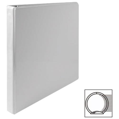 Cartable à reliure à anneaux ronds de 1/2 po de première qualité de Sparco (SPR19551) - Blanc