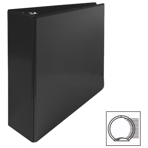 Cartable à reliure à anneaux ronds de 3 po de première qualité de Sparco (SPR19750) - Noir