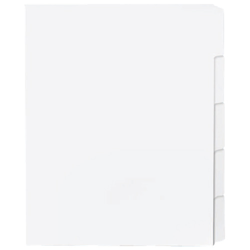 Sparco Tab Dividers (SPR21000) - 50 Pack - White