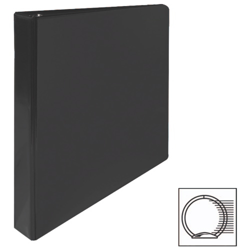"""Sparco 1"""" Premium Round Ring View Binder (SPR19600) - Black"""