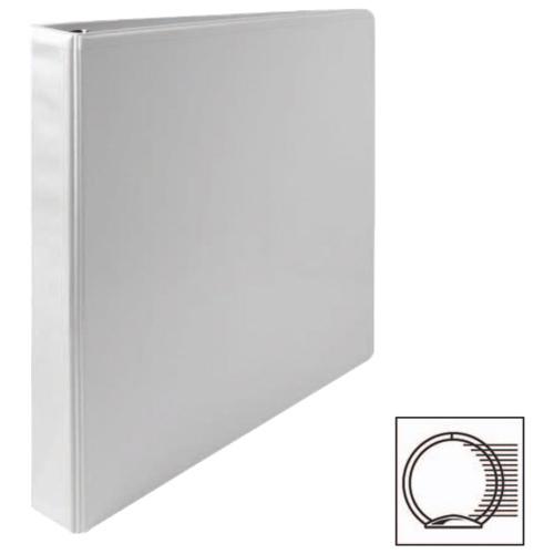 Cartable à reliure à anneaux ronds de 1 po de première qualité de Sparco (SPR19601) - Blanc
