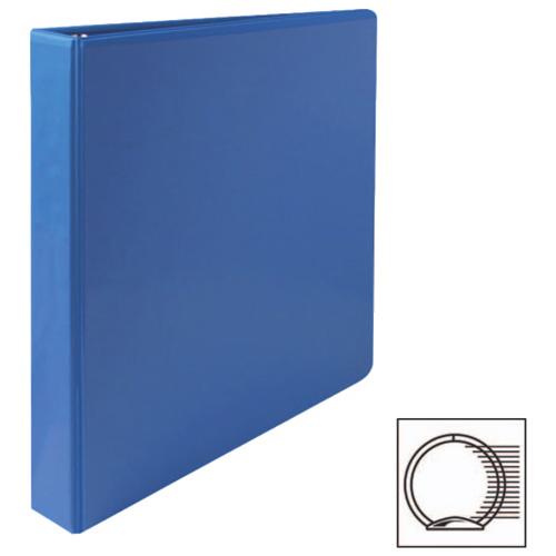 """Sparco 1"""" Premium Round Ring View Binder (SPR19602) - Blue"""